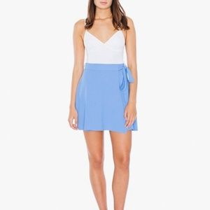 American apparel wrap skirt in periwinkle